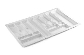 biały organizer do szuflady